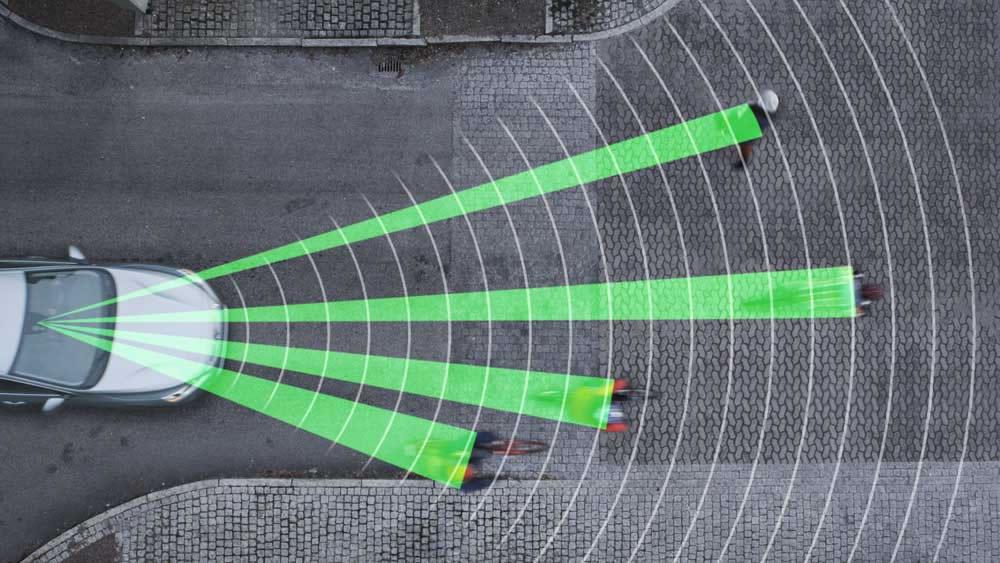 Detector de ciclistas Volvo