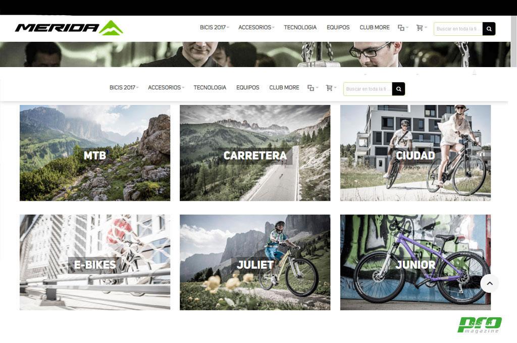 Nueva página web de Merida Bikes