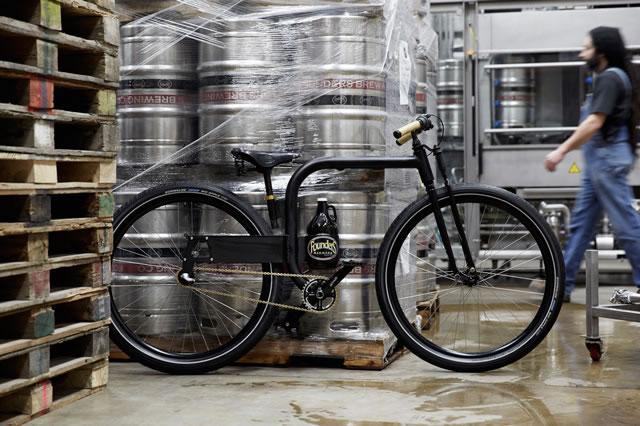 Bici para transportar cerveza