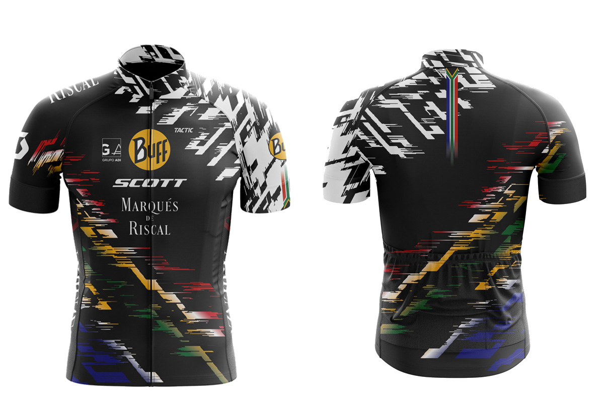 Decoración especial del Buff-SCOTT Team para la Cape Epic