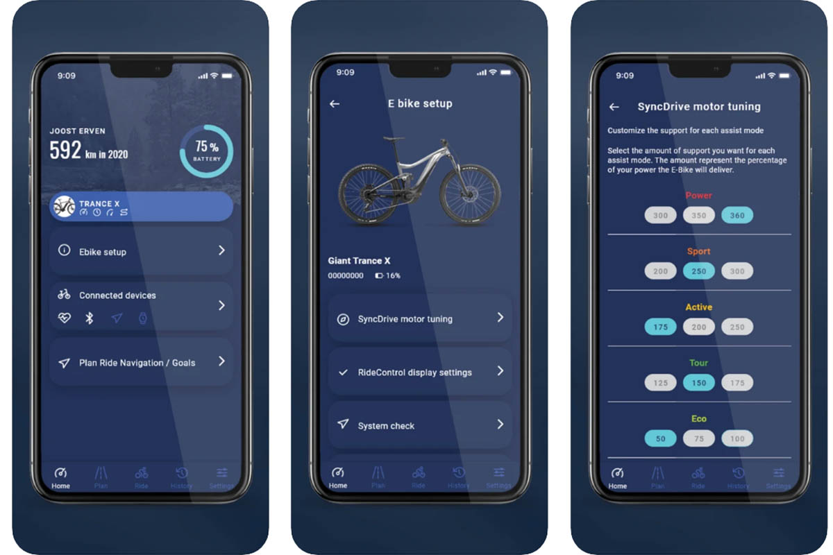 """Giant """"RideControl App"""" 2.0"""
