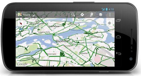 Google Maps actualiza su versión Android con rutas para ciclistas
