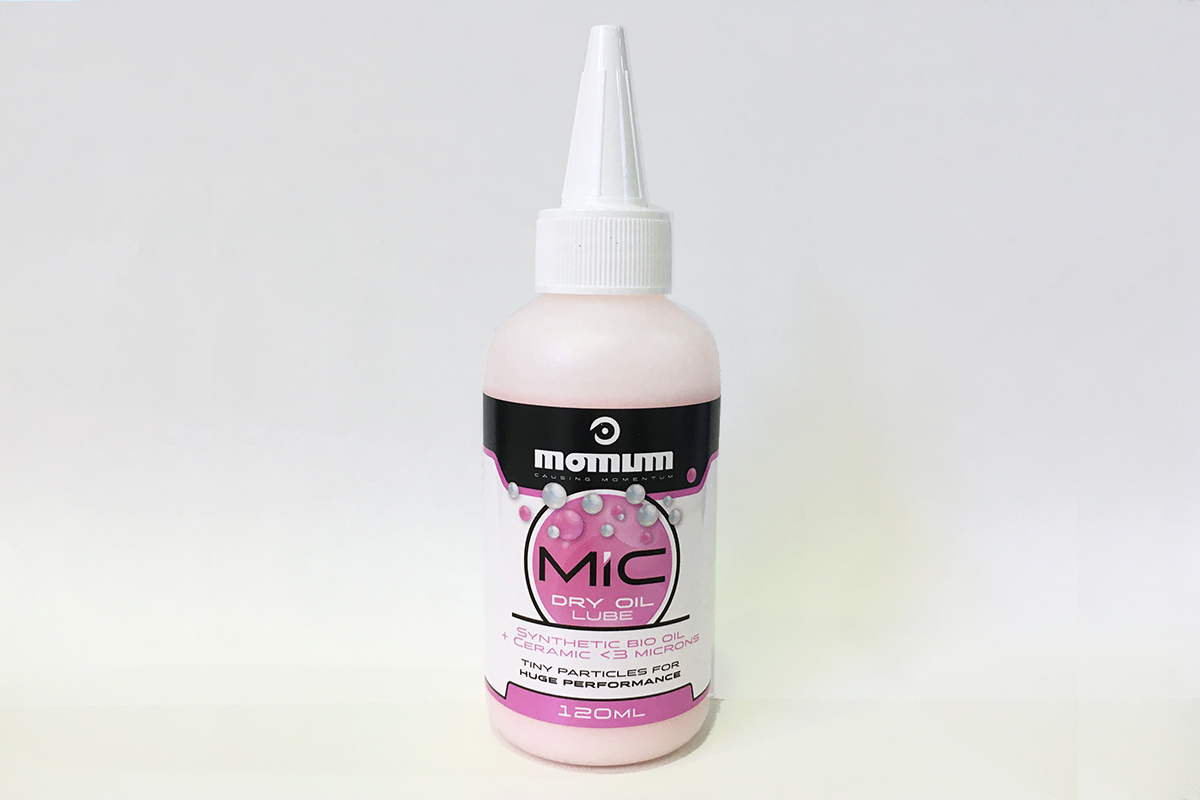 """Nuevo aceite Momum MIC Dry Oil para lubricación """"seca"""" con partículas de cerámica"""
