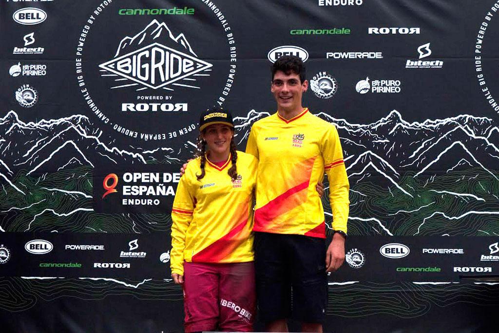 Javier San Román y Miriam Alcántara: campeones del Open de España de Enduro en el Big Ride Tuña