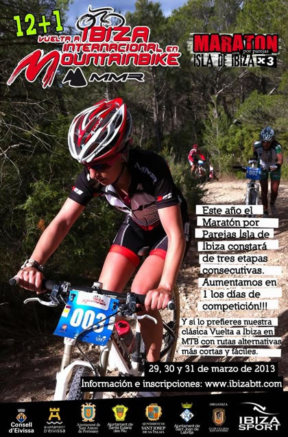 Cartel Vuelta a Ibiza en Mountain Bike MMR 2013