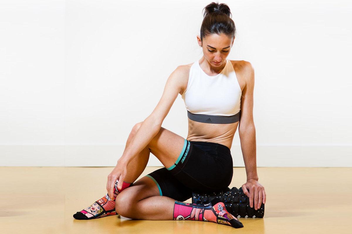 Entrenamiento y masajes con Foam Roller: Glúteos