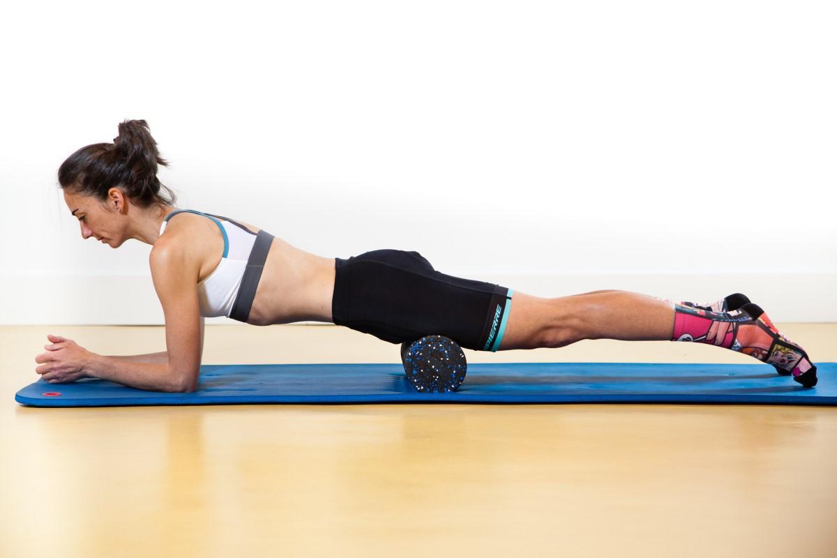 Entrenamiento y masajes con Foam Roller: Cuadriceps