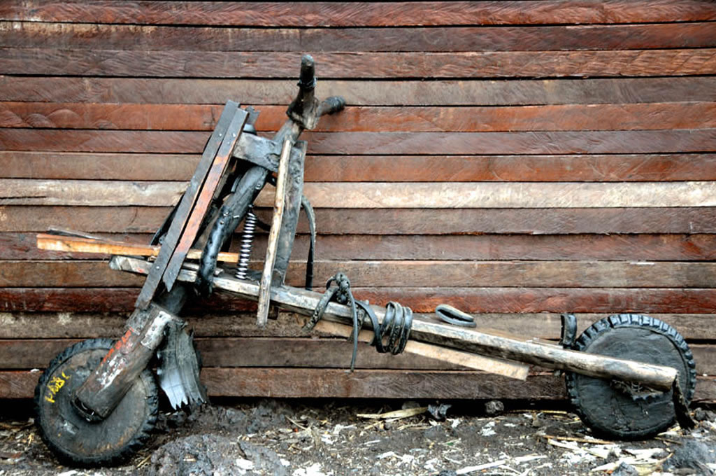 Chukudú, las bicicletas forzudas